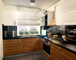 Кухня 2: Кухни в . Автор – Inna Katyrina & 'A-LITTLE-GREEN' studio interiors