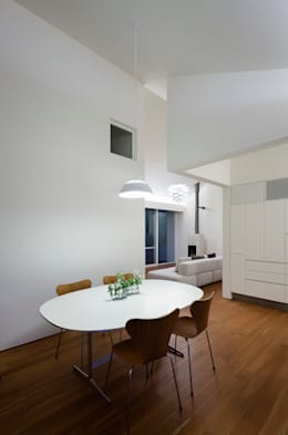 Comedores de estilo moderno por 株式会社 直井建築設計事務所