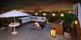Terrazas de estilo  de Monte Arquitetura
