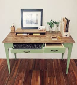 Olive green desk: Design-namu의  서재/사무실