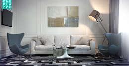 Однушка на 78 м. кв.: Гостиная в . Автор – OnePlace studio interior design