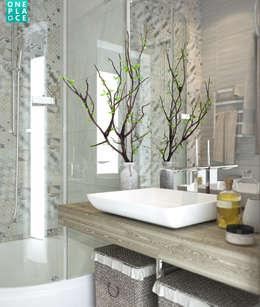 """3-к квартира """"Немецкая деревня"""": Ванные комнаты в . Автор – OnePlace studio interior design"""