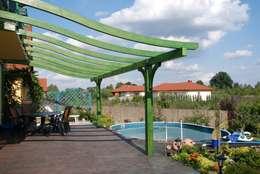Projekty,  Balkon, weranda i taras zaprojektowane przez JAGRAM-PRO