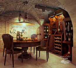 mediterranean Wine cellar by Sweet Home Design