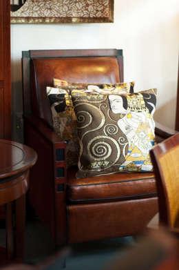 Art Deco & Klimt: eclectische Woonkamer door De blauwe Deel Webwinkels