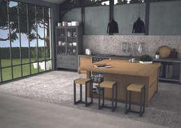 The Baked Tile Company : kırsal tarz tarz Mutfak