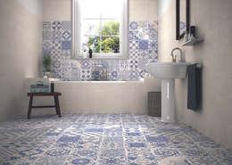 The Baked Tile Company : kırsal tarz tarz Banyo