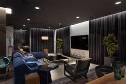 minimalistic Living room by INCUBE Алексея Щербачёва