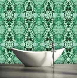TAPETA  MALACHITE: styl , w kategorii Ściany i podłogi zaprojektowany przez Eclectic Living
