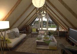 мансарда с террасой - attic with  terrace: Tерраса в . Автор – AnARCHI