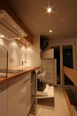 Studio malin de 16m2: Cuisine de style de style Moderne par atelier instant t