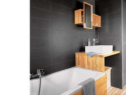 Salle de bain de la suite parentale: Salle de bains de style  par atelier julien blanchard architecte dplg