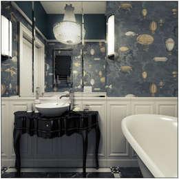 2k architektura: eklektik tarz tarz Banyo