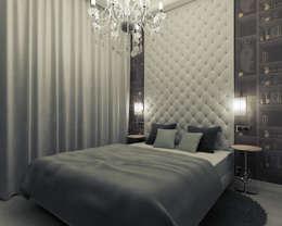 Mieszkanie z charakterem w IX-wiecznej kamienicy: styl , w kategorii Sypialnia zaprojektowany przez 2k architektura