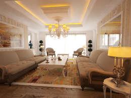 İNDEKSA Mimarlık İç Mimarlık İnşaat Taahüt Ltd.Şti. – İNDEKSA İÇ MİMARLIK: klasik tarz tarz Oturma Odası
