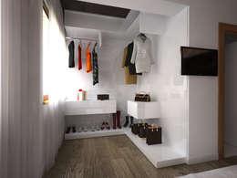 İNDEKSA Mimarlık İç Mimarlık İnşaat Taahüt Ltd.Şti. – İNDEKSA İÇ MİMARLIK: modern tarz Giyinme Odası