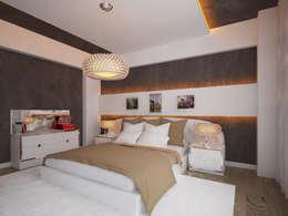 İNDEKSA Mimarlık İç Mimarlık İnşaat Taahüt Ltd.Şti. – İNDEKSA İÇ MİMARLIK: modern tarz Yatak Odası