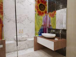 İNDEKSA Mimarlık İç Mimarlık İnşaat Taahüt Ltd.Şti. – İNDEKSA ÖRNEK DAİRE ÇALIŞMASI: modern tarz Banyo