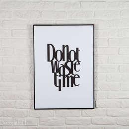 Do not waste time: styl , w kategorii Ściany i podłogi zaprojektowany przez Decoration Laboratory