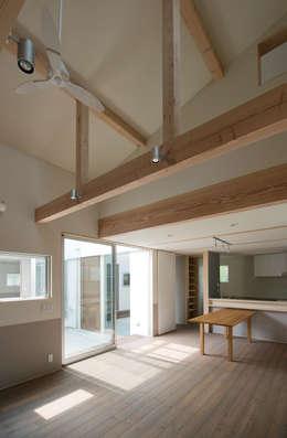 DOG COURTYARD HOUSE: 充総合計画 一級建築士事務所が手掛けたダイニングです。
