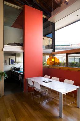 Salas de jantar industriais por Beriot, Bernardini arquitectos