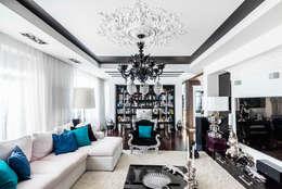 Интерьер квартиры в стиле Фьюжн: Гостиная в . Автор – Belimov-Gushchin Andrey