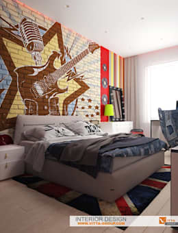 Rock style for girl: Детские комнаты в . Автор – VITTA-GROUP