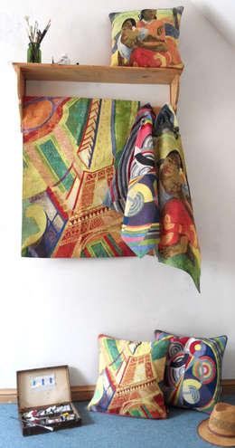 Tapisseries - Artistes: Salon de style de style eclectique par Tissage Art de Lys