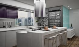 modern Kitchen by Citlali Villarreal Interiorismo & Diseño