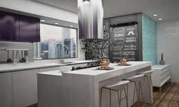 مطبخ تنفيذ Citlali Villarreal Interiorismo & Diseño