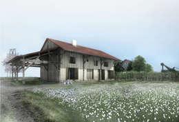 Rénovation d'une grange en Picardie: Maisons de style de stile Rural par Hors-Champs, Laurence Cheret  Architecte
