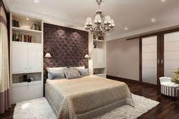 Спальня в брусничных тонах: Спальни в . Автор – K-Group