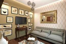 Кофейная гостиная.: Гостиная в . Автор – K-Group