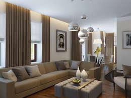 Белая гостиная: Гостиная в . Автор – K-Group