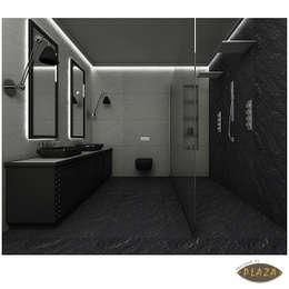 Plaza Yapı Malzemeleri – Doğaltaş Görünümlü seramikler: minimal tarz tarz Banyo