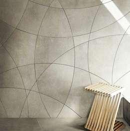 Plaza Yapı Malzemeleri – Beton Görününümlü İtalyan yer seramiği:  tarz Duvarlar