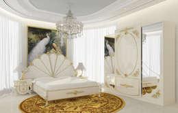 Inan AYDOGAN /IA  Interior Design Office – Gold Avangarde Bedroom ( http://www.eronur.com/ ): klasik tarz tarz Yatak Odası
