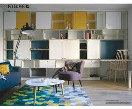 regał ze sklejki gamma Intterno: styl , w kategorii Salon zaprojektowany przez Intterno