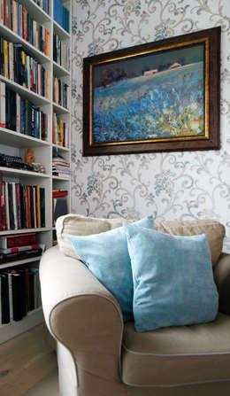 Salon.: styl , w kategorii Salon zaprojektowany przez HUK atelier