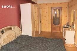 "Фото спальни ""до"" :  в . Автор – L'Essenziale Home Designs"