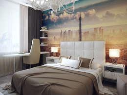 Студия дизайна интерьера Маши Марченко: eklektik tarz tarz Yatak Odası