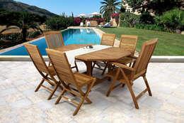 Jardines de estilo mediterraneo por SYD Muebles de Jardin