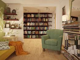 Экоквартира в Тропарево: Гостиная в . Автор – «Студия 3.14»