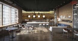 Дизайн кафе в стиле лофт: современные идеи и фото 2015: Гостиная в . Автор – Olga's Studio