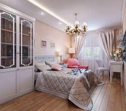 Квартира. Озерки.: Спальни в . Автор – Студия дизайна Elena-art