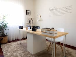 scandinavian Study/office by MUDA Home Design