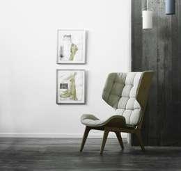 Mammoth Sessel Fluffy: skandinavische Wohnzimmer von HELSINKI DESIGN