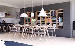 D&L mieszkanie: styl , w kategorii Salon zaprojektowany przez hanczar studio