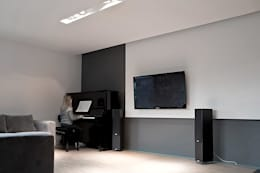 Salon: styl , w kategorii Salon zaprojektowany przez Konrad Idaszewski Architekt