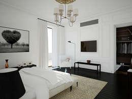 Дом в Москве, 600 кв.м: Спальни в . Автор – Валерия Лазарева - архитектор, дизайнер интерьера